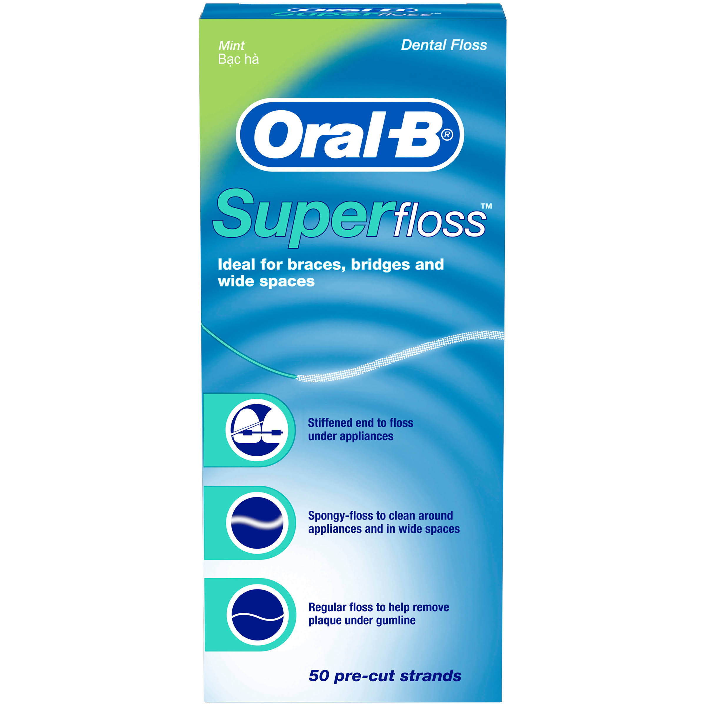Oral B Super Dental Floss Pre Cut Pack - 50pk