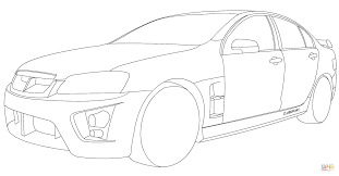 Click The Holden HSV Clubsport Coloring Pages