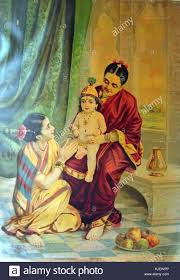99 Studio Ravi Childhood Of Krishna From The Varma Studio 1910s Stock Photo