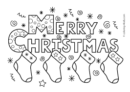 Christmas Coloring Pages To Print Free Printable Kids Inside
