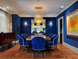 View In Gallery Fabulous Dining Room Captivating Royal Blue Design Carolyn Miller Interiors