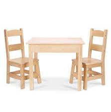 Kidkraft Heart Kids Table And Chair Set by Amazon Com Melissa U0026 Doug Solid Wood Table And 2 Chairs Set