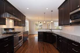 dark kitchen cabinets white subway tile backsplash kitchens