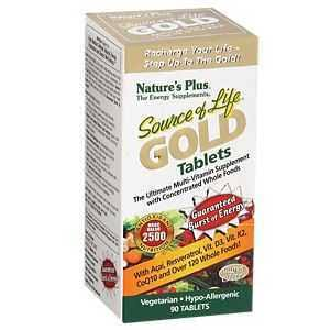 Nature's Plus Source of Life Gold Multivitamin Supplement - 90 Tablets
