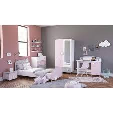 kinderzimmer sternschnuppe 5 tlg rosa weiß grau kleiderschrank kinderbett 2 kommoden schreibtisch