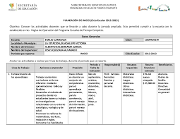 Formato planeaci³n 2012 2013