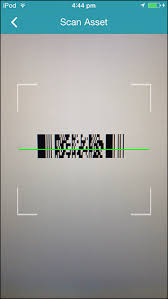Under Assets tap Scan Assets to open the barcode scanner and point it to the device s barcode or QR code