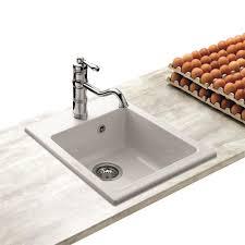 soldes evier cuisine évier céramique blanc alnae 1 bac sans égouttoir 450x530 mm