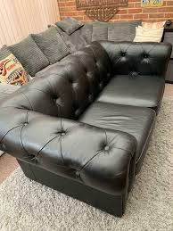 Leather Chesterfield 2 Seater Sofa And 2 Arm Chairs | In Sittingbourne,  Kent | Gumtree