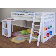 lit enfant bureau lit enfant surélevé avec bureau commode et tiroires blanc dim