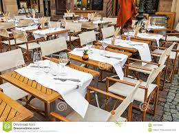 Empty Outdoor Restaurant With Table Set Stock Photo - Image ... Designer Fniture Italian Interior Design Cappellini Billiani Chairs And Fniture A Little Italy Tiny Restaurant Thats Too Good To Be A Secret Rome View Of An Outdoor Tables Home Artisan Bellevue Very Wood Chair Makers The 100 Best Restaurants In Paris Restaurants Time Out Zin Eclectic Modern Industrial Style Melfis New Charleston Sc Restaurant Table Wikipedia Sunperry Fniture Project For Choice