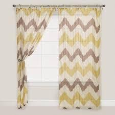 Sweet Jojo Chevron Curtains by Yellow And Grey Zig Zag 84 Inch Curtain Panel