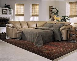 Mor Furniture Sectional Sofas by Decorating Leather Sectional Sleeper Sofa On White Floor With