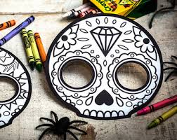 Easy Sugar Skull Day Of by Punk Sugar Skull Day Of The Dead Party Printable Decor Kit Dia