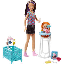 Barbie Skipper Babysitters Inc Doll And Feeding Playset