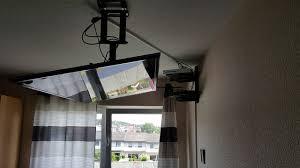 flatscreen horizontale deckenmontage anschluss