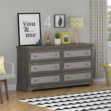Sauder Shoal Creek Dresser Walmart by Sauder Shoal Creek 6 Drawer Oiled Oak Dresser 410287 The Home Depot