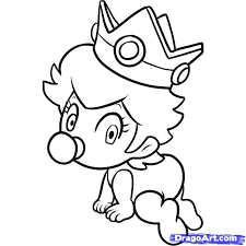 Baby Peach Coloring Pages Photo