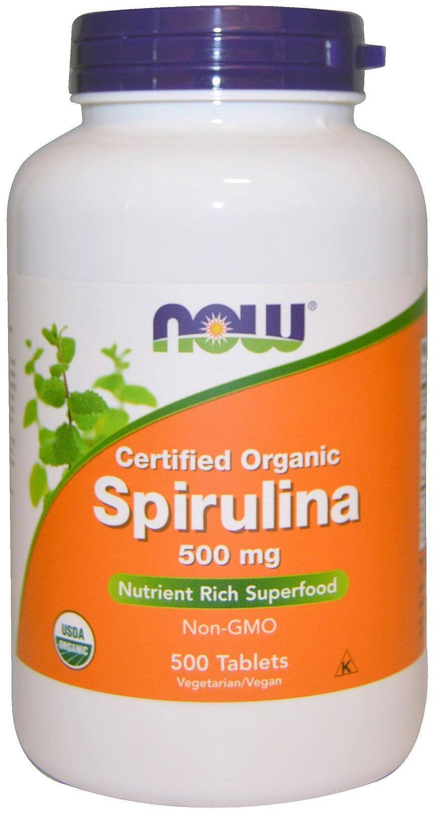 Now Spirulina - 500mg, 500 Tablets