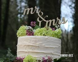 Rustic Chic Wedding Cake Topper Mr And Mrs Script Unpainted Vintage Wood