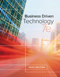 Test Bank For Business Driven Technology 7th Baltzan 9781259567322 Solutiontestbank