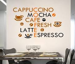 Creative Coffee Wall Stickers Home Decor Living Room Decoration Modern Art Vinyl Quotes Kitchen