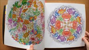 Lost Ocean By Johanna Basford Colouring Book Flipthrough With Coloured Pictures