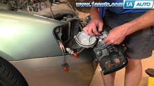 how to install replace headlight and bulb subaru outback 01 04