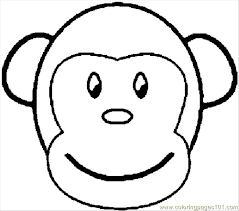 Coloring Monkey Page