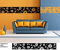 wandtattoo selbstklebend bordüre blumen ranke pusteblume fliesenaufkleber banner tür wandaufkleber wohnzimmer 1u057 wandtattoos und leinwandbilder