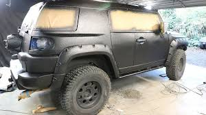 FJ Cruiser Build Pt 7 - DIY Truck Bed Liner Paint Job - YouTube