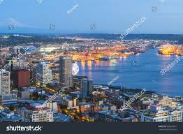 100 Beautiful Seattle Pictures Washingtonusa 20160408 View Down Town Stock Photo