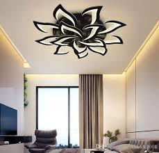 großhandel neue eisen acryl led petal deckenleuchte wohnzimmer study schlafzimmer küche haushaltdeckenleuchten moderne led beleuchtung schwarz myy