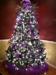 Purple Tree For Christmas Decorations Lights Decorated
