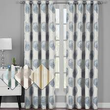120 Inch Long Blackout Curtains by Lafayette Modern Abstract Jacquard Curtain Panels With Grommets