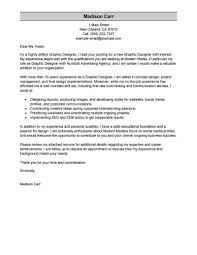 Best Graphic Designer Cover Letter Examples Livecareer Graphic