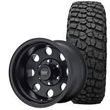 100 American Racing Rims For Trucks Wrangler JK Baja Wheel And Tire Package 17X9 Satin