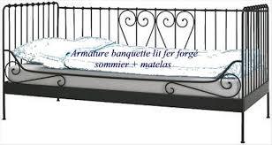 canapé fer forgé banquette lit en fer forgé en offres juin clasf maison jardin