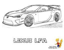 Color In Lexus LFA 3 4 View At YesColoring