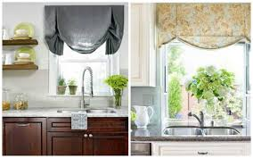 Kitchen Curtain Ideas For Small Windows by Small Kitchen Window Treatments Blindsgalore Blog