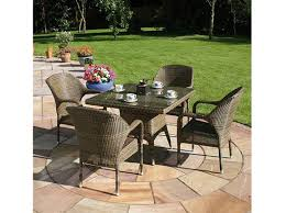 100cm sussex table with 4 sussex stackable armchairs mochacrop jpg