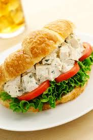 Download Chicken Salad Croissant Sandwich Stock Photo