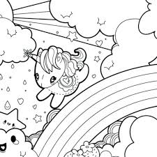 Unicorn Coloring Pages For Adults Free Preschoolers Colouring Best Rainbow Book