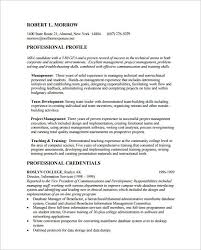 Sample Resume Template For MBA Application PDF