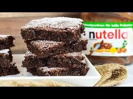 saftige nutella brownies mit nur 3 zutaten 3 zutaten