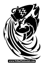 Aquarius Symbol Tattoo Stencil Tribal Zodiac