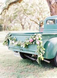 Floral Garland On Vintage Pick Up Truck Lowcountry Wedding By Red Letter Events Southern Weddings Magazine This Makes Me Tear Upwe Were Gonna Have Our