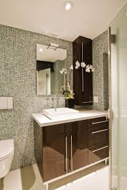 Brown Mosaic Bathroom Mirror by Bathroom Endearing White Bathroom Design With White Victorian