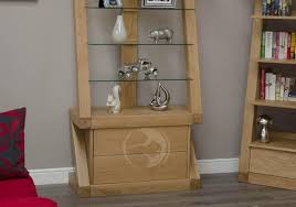 z shape solid oak glass disply unit oak furniture uk