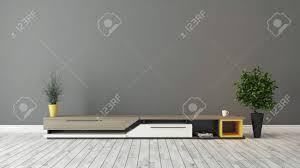 moderne tv ständer design mit grau braun wand in den raum deko idee 3d rendering